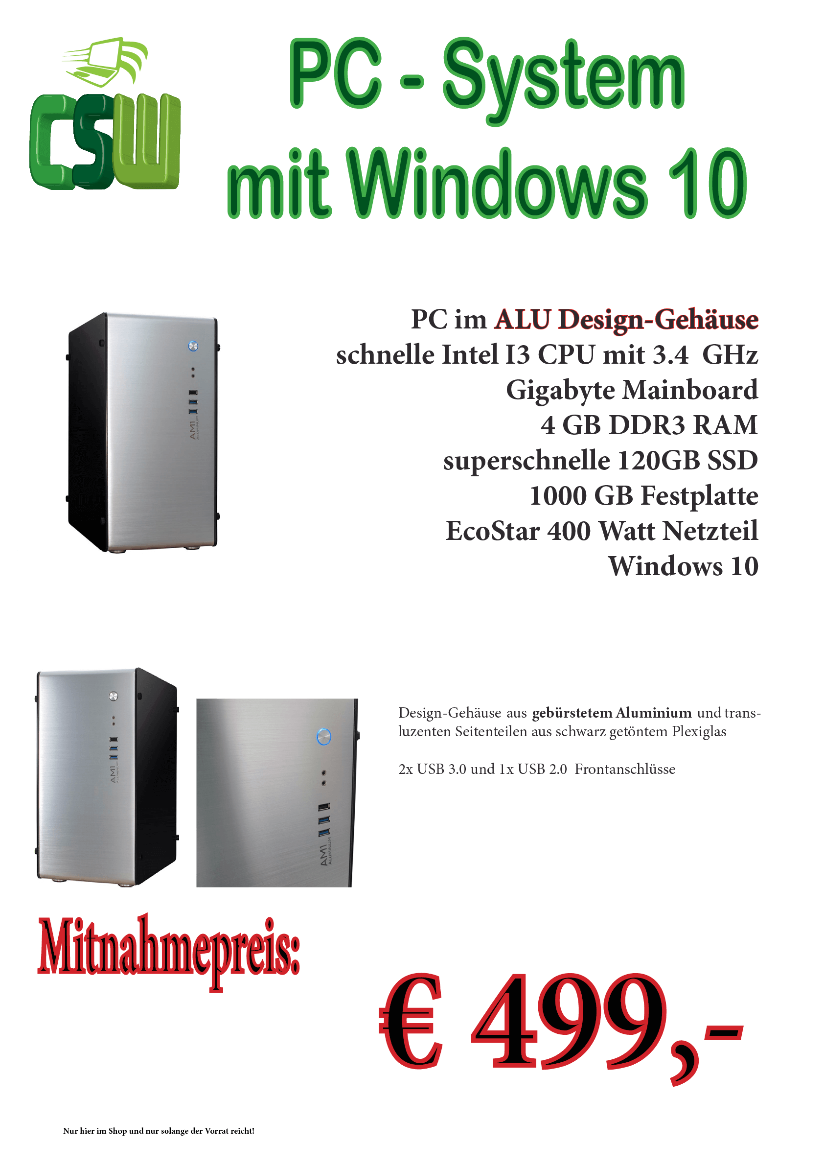 Design PC-System mit Windows 10